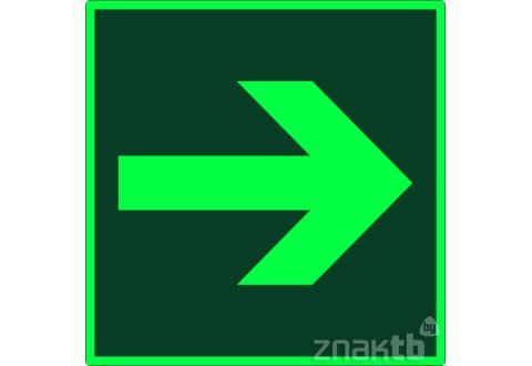 Знак Направление эвакуации фотолюм. код Е02-01