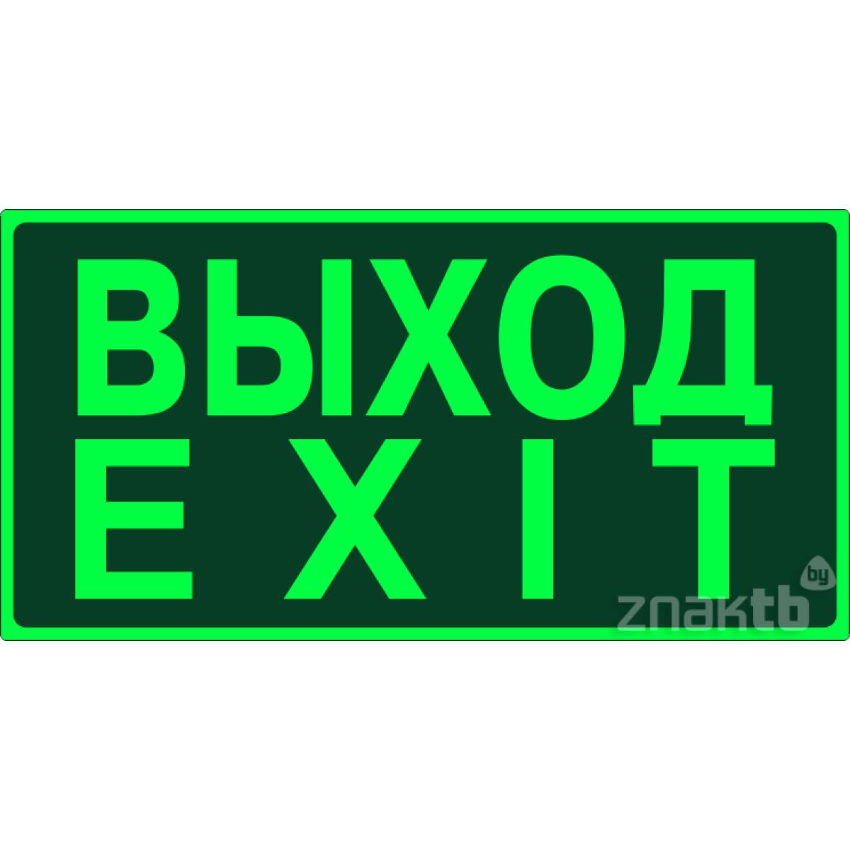 436 Знак Выход. Exit  фотолюм.
