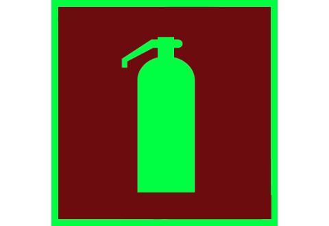 001 Знак Огнетушитель фотолюминесцентный код F04