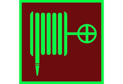 002 Знак Пожарный кран фотолюминесцентный код F02