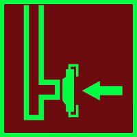 004 Знак Пожарный сухотрубный стояк фотолюминесцентный код F08