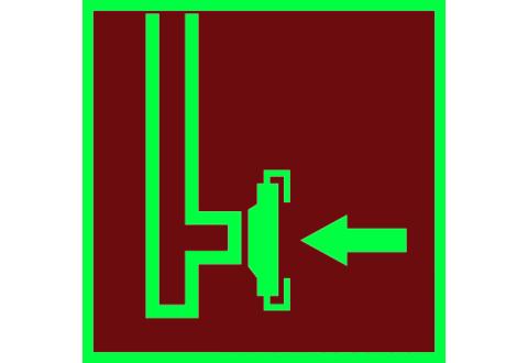 Знак Пожарный сухотрубный стояк фотолюминесцентный код F08