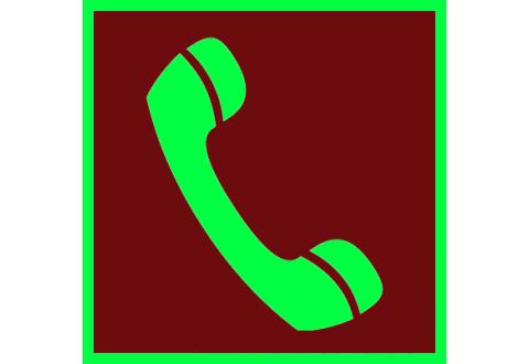 007 Знак Телефон для использования при пожаре фотолюминесцентный код F05