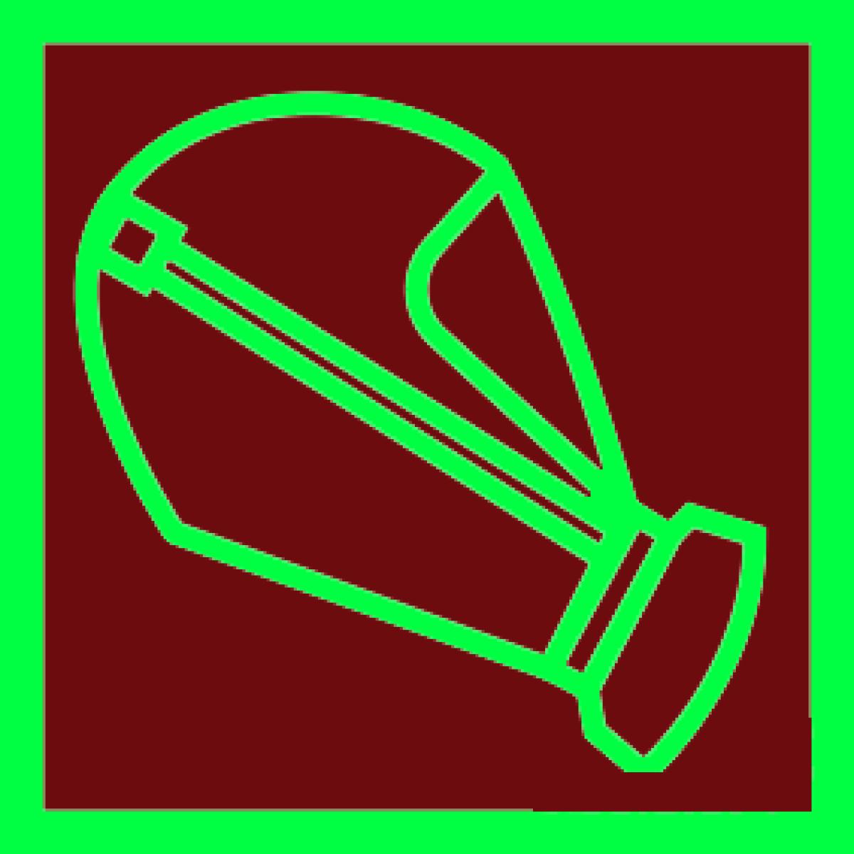 Знак Cамоспасатель фотолюминесцентный