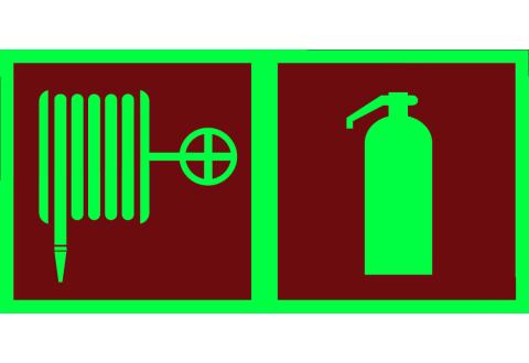 Знак Пожарный кран и Огнетушитель фотолюминесцентный