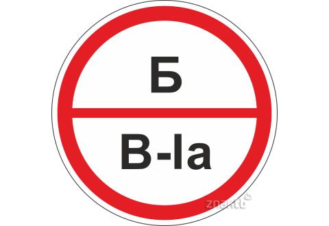 308 Знак категорийности помещений Б/В1а