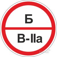 309 Знак категорийности помещений Б/В2а