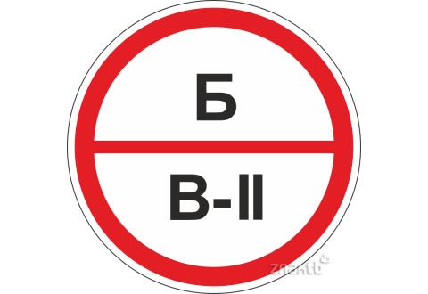 310 Знак категорийности помещений Б/В2