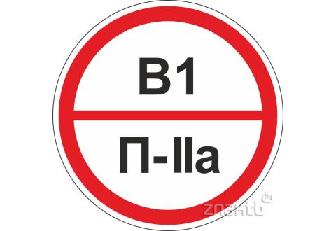 314 Знаки категорийности помещений В1/П2а