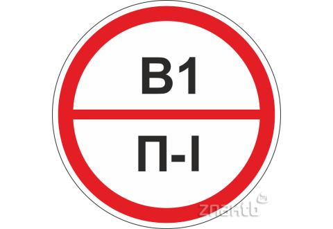 315 Знак категорийности помещений В1/П1