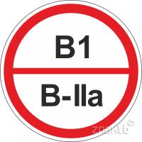 317 Знак категорийности помещений В1/В2а
