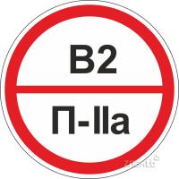 320 Знак категорийности помещений В2/П2а