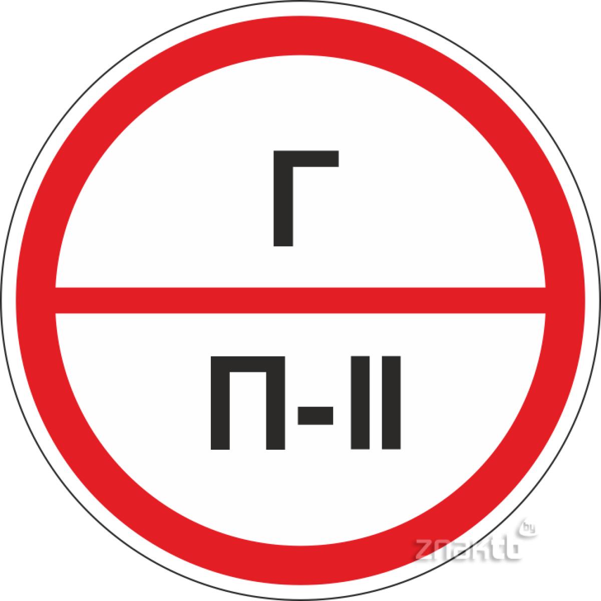 Знаки категорийности помещений Г/П2
