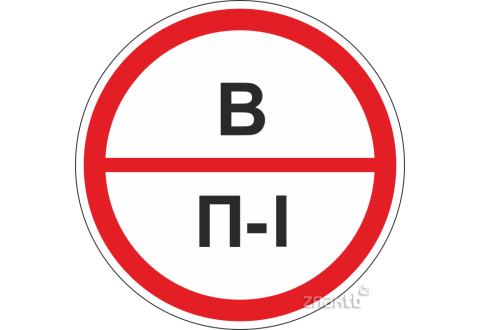 Знаки категорийности помещений В/П1