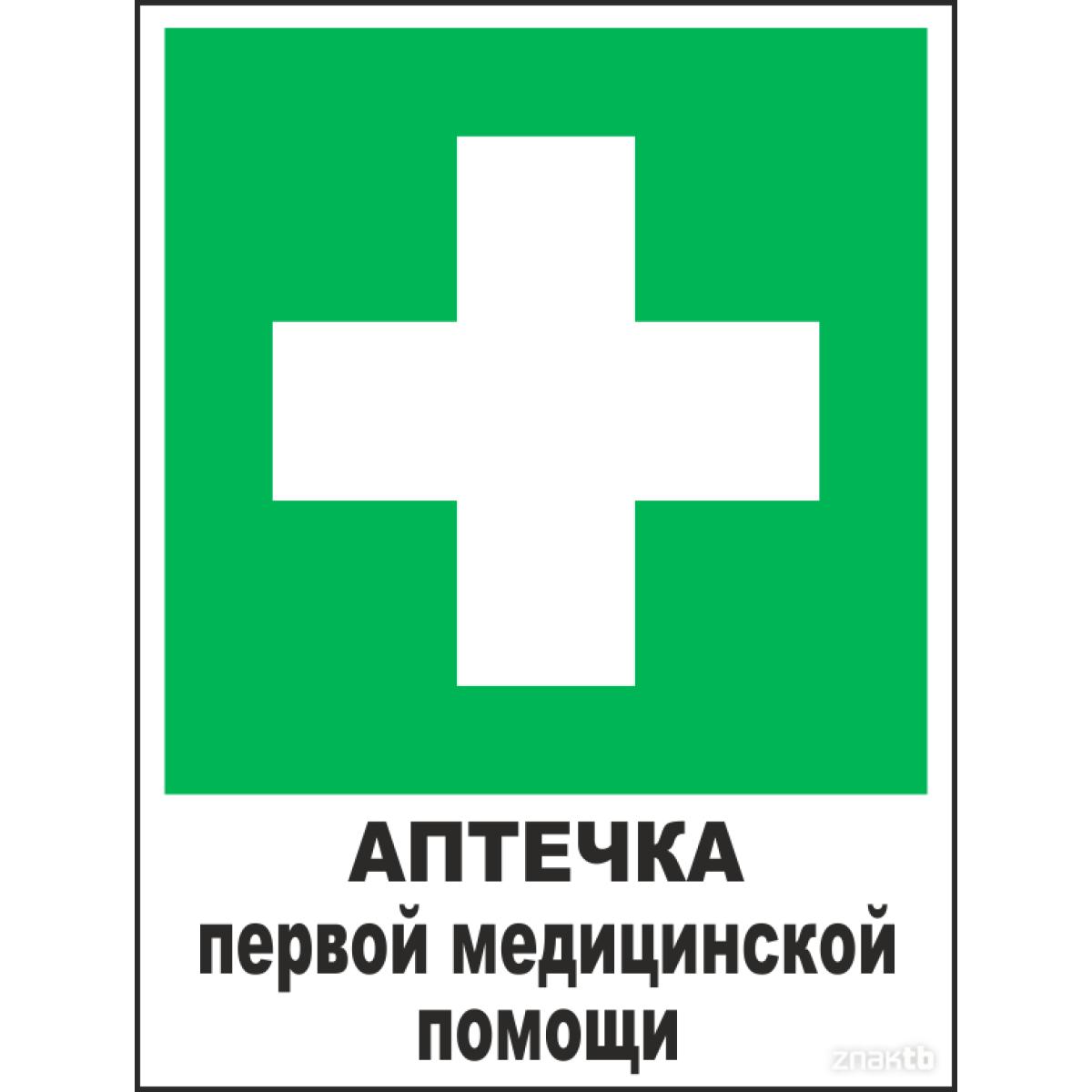 Знак Аптечка первой медицинской помощи