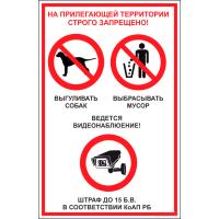 "713 Знак ""На прилегающей территории строго запрещено!"""