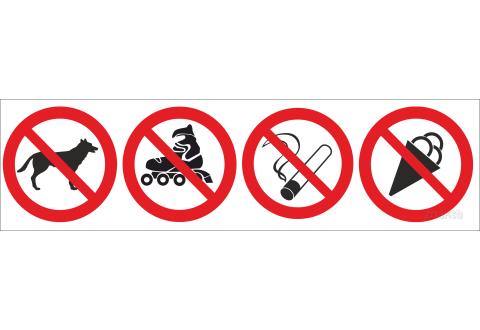 Знаки комбинированные запрещающие