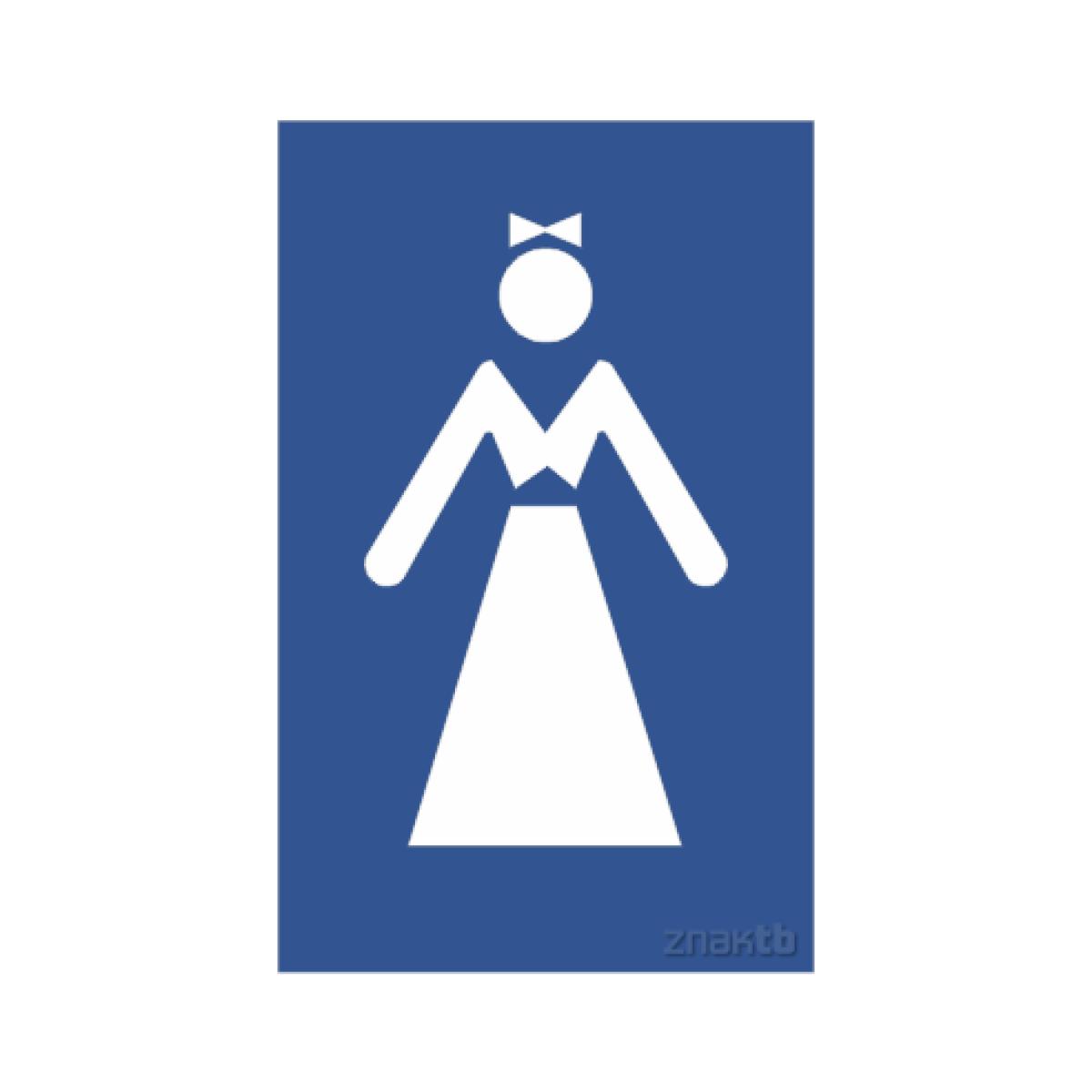 Знак женский туалет