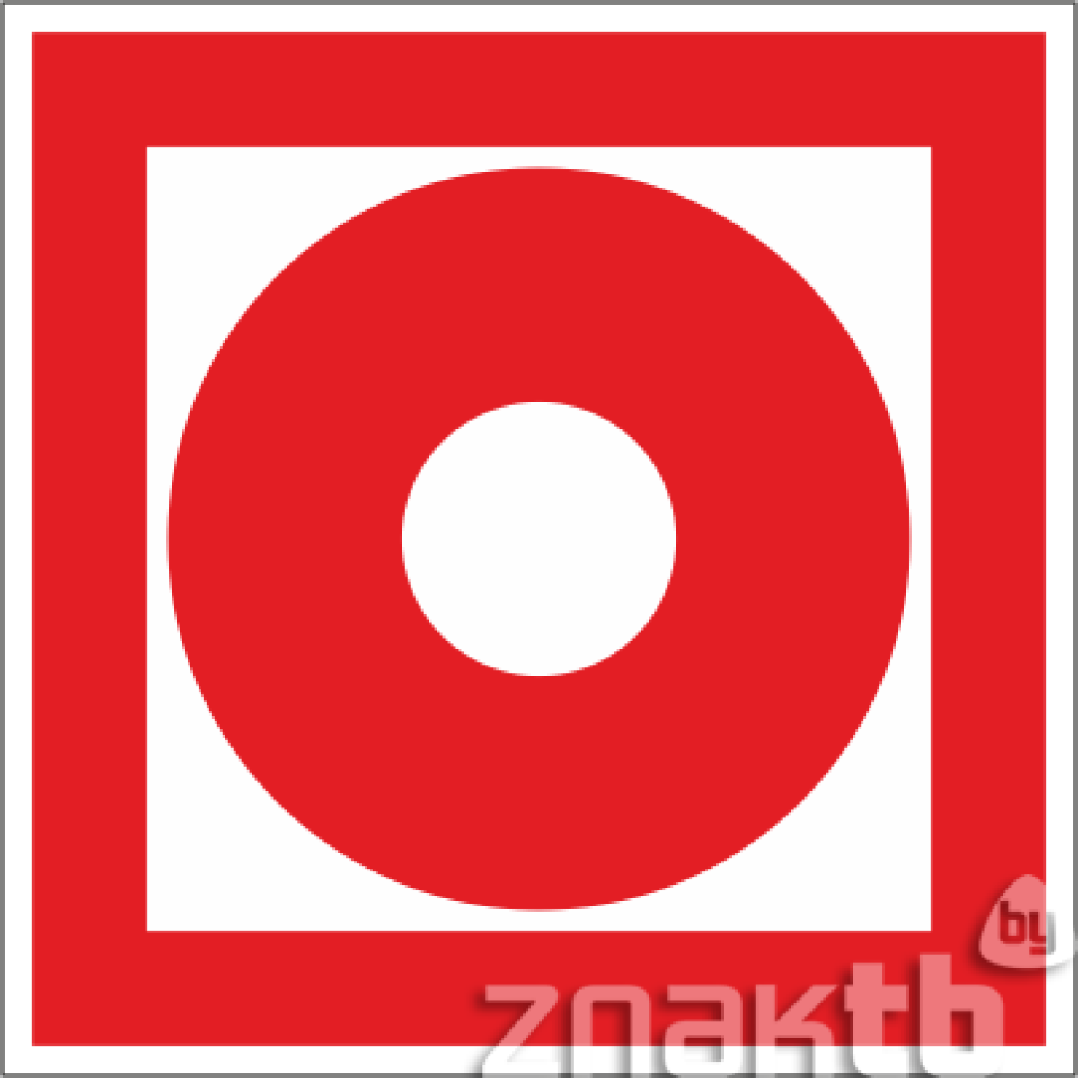 Знак Кнопка включения систем пожарной автоматики код F10