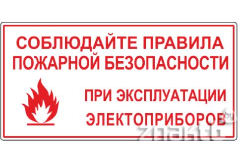 Знак Соблюдайте правила пожарной безопасности