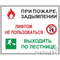 185 Порядок действий при пожаре или задымлении