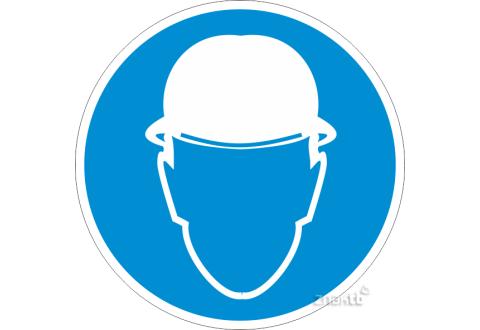 082 Знак Работать в защитной каске код М02