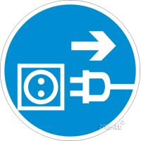 094 Знак Отключить штепсельную вилку код М13