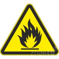 104 Знак Пожароопасно! Легковоспламеняющиеся вещества код W01
