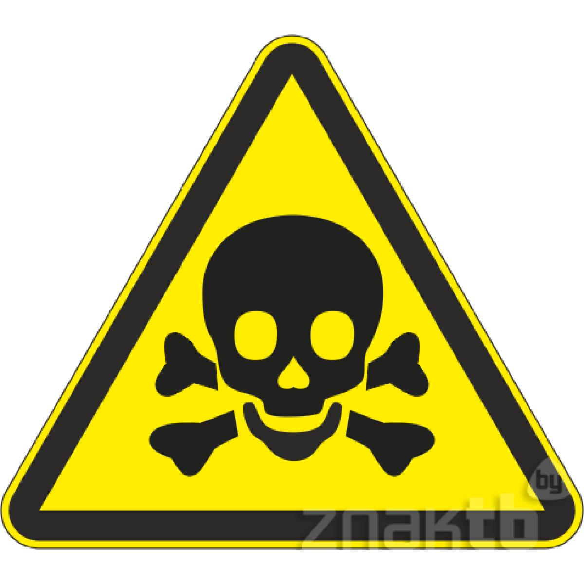 114 Знак Опасно! Ядовитые вещества код  W03