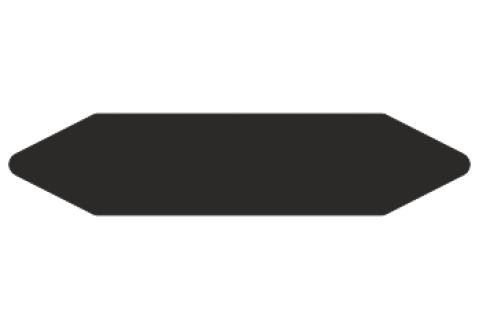 Стрелки для маркировки трубопроводов, черная