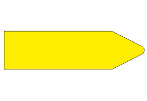 Стрелки для маркировки трубопроводов, желтая