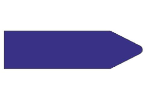 Стрелки для маркировки трубопроводов, синяя
