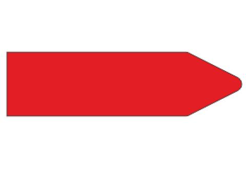 Стрелки для маркировки трубопроводов, красная
