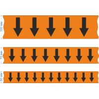Маркировочная лента для трубопровода со стрелками, оранжевая