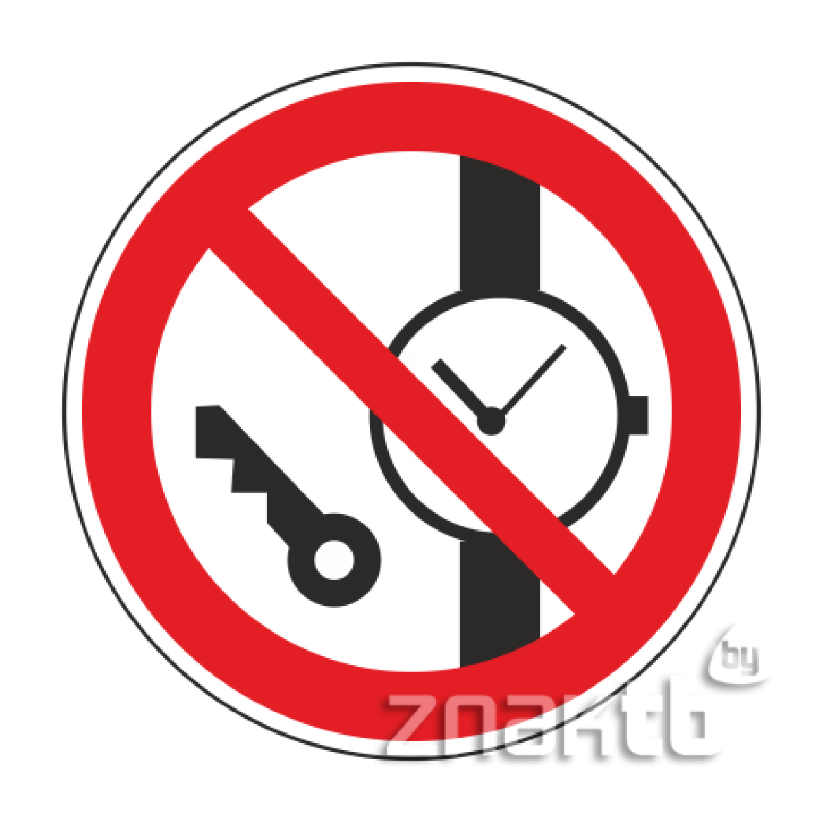 061 Знак Запрещается иметь при себе  металлические предметы код Р27