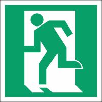 021 Знак Дверь эвакуационного выхода (открывающаяся с левой стороны)код Е01-01
