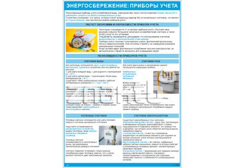 2007 Плакат информационный Энергосбережение: приборы учета